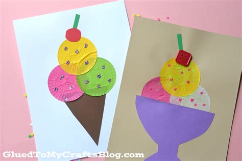 kid crafts cupcake liner kid craft
