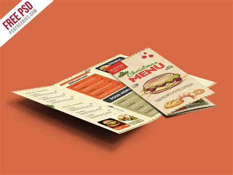 food template psd fast food menu trifold brochure free psd psdfreebies
