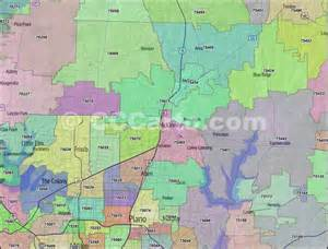 collin county zip code boundary map