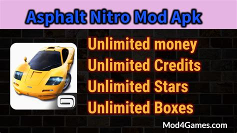 unlimited money apk asphalt nitro mod apk unlimited money credits boxes with obb data mod4games
