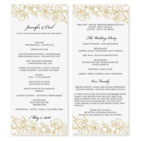 Wedding Program Template Download Instantly Edit Yourself Vintage Bouquet Gold Tea Do It Yourself Wedding Programs Templates Free