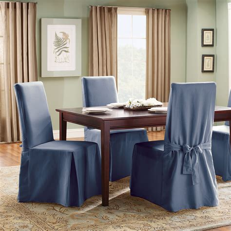 sure fit cotton duck dining room chair slipcover sure fit cotton duck length dining room chair