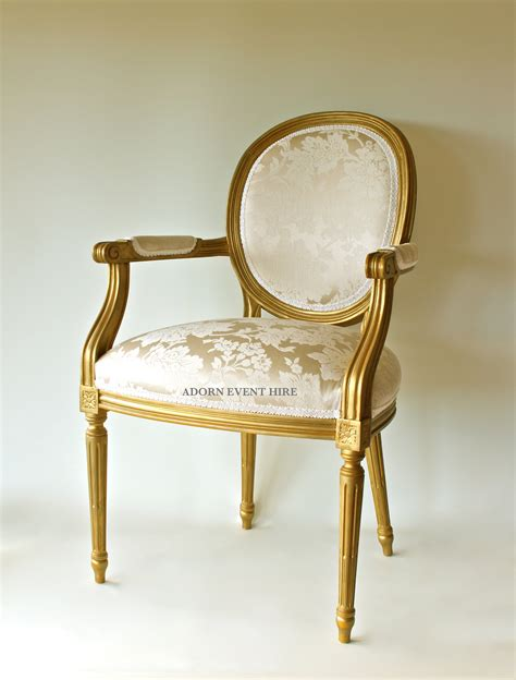 Gold Chair by Gold And Ivory Oval Back Chair