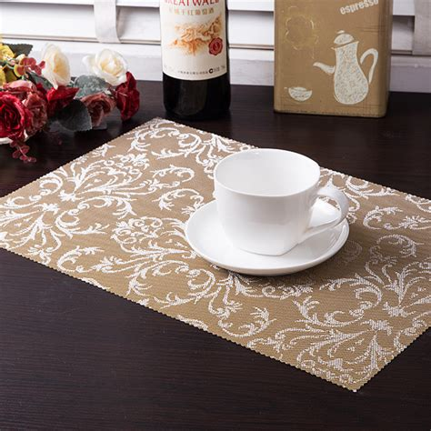 Dining Table Mat Set 4 Pcs Lot Pvc Placemat Dining Tables Mats Bar Mat