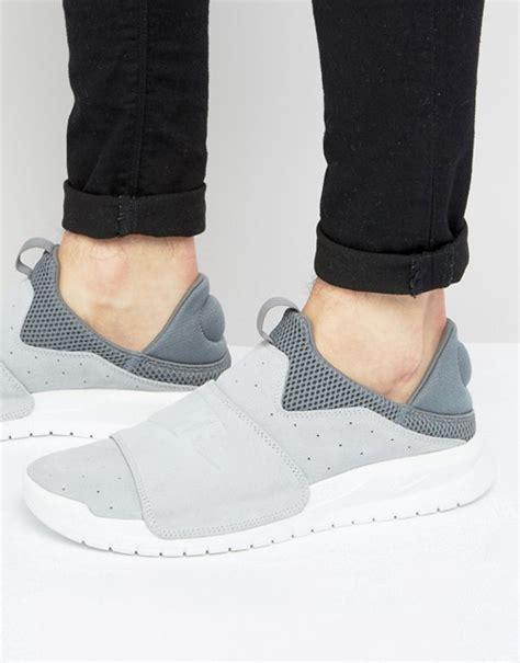 Nike Benassi Slip by Nike Nike Benassi Slip Trainers In Grey 882410 002