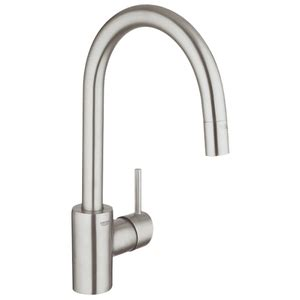 shop grohe concetto super steel 1 handle deck mount pull g32665dc1 concetto pull out spray kitchen faucet