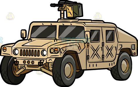 military hummer drawing a military humvee vector clip art cartoon