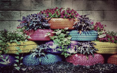 Tires As Planters by On Sale Tire Planter Photograph Painted By Americanaartbyellis