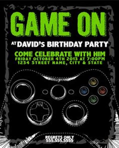 free printable xbox birthday invitations 1000 images about digital etsy files on pinterest