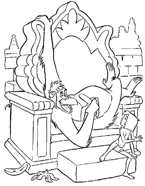 jungle book coloring pages king louie view full size image