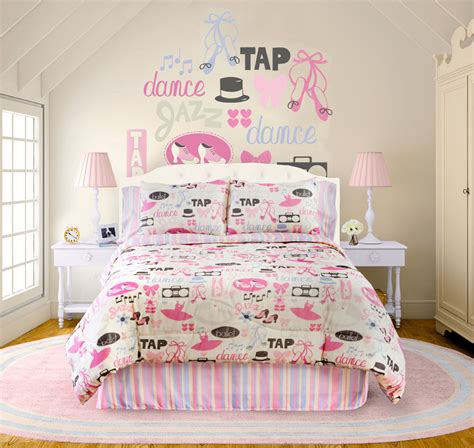 little dancer 4 pc twin comforter set raspberry