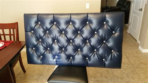 how to make a floating headboard diy blue tufted floating headboard with diamond pattern