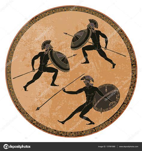 vasi greci a figure nere soldati greci antichi ceramica a figure nere antica