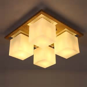 Japanese Style Ceiling Lights Brief Led Ceiling Light Style Rustic Solid Wood Bedroom Lights Japanese Style