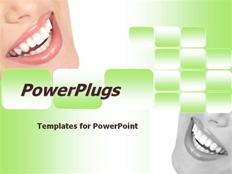 This Green And White Template Is Ideal For Dental Clinic Free Dental Powerpoint Templates