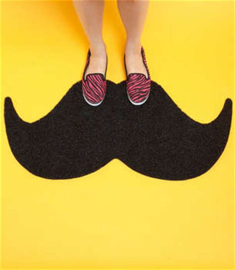home decor accessories mustache door mat