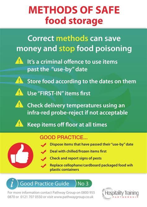 methods of safe food storage guide practice basic
