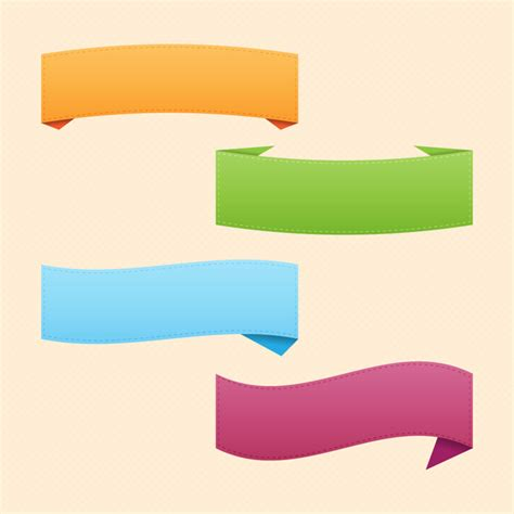 free ribbon vector banner set in ai eps cdr format ribbon banner set free vector in adobe illustrator ai