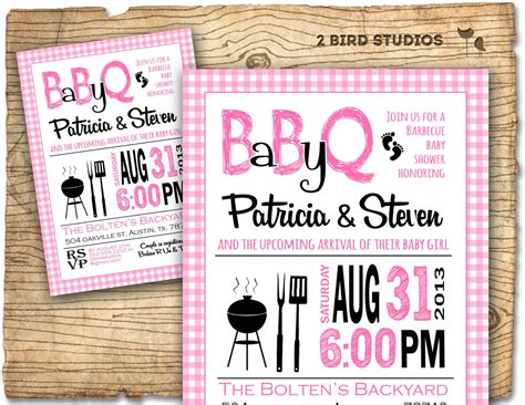 free baby q invitations templates bbq baby shower invitation baby q baby shower invite coed