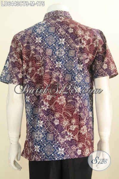 Hem Batik Tulis Pendek F60417022bru Kemeja Batik Terbaru Murah jual kemeja batik pria kwalitas bagus harga grosir hem batik modis lengan pendek motif elegan