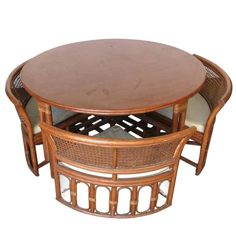 Rattan Dining Room Table And Chairs Rattan And Wicker Dining Coffee Table With Chairs