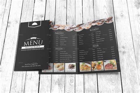 modern restaurant menu template by geelator graphicriver