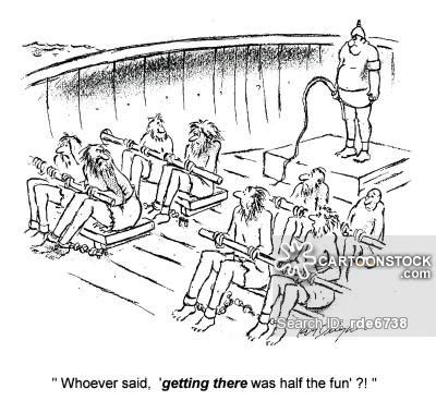 cartoon rowing boat management slave ship cartoons and comics funny pictures from