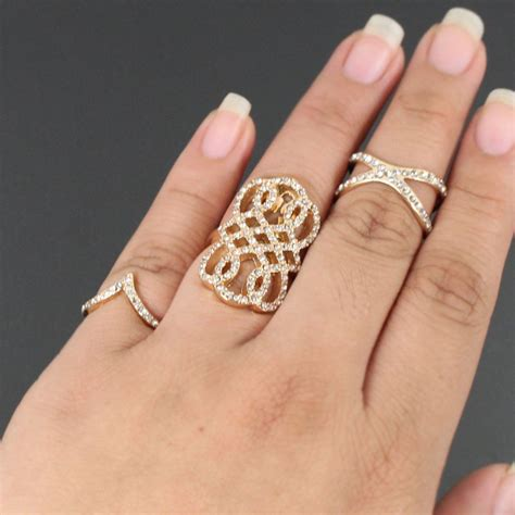 studded filigree fashion rings set yjr868 r2139