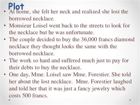themes of the necklace story the necklace
