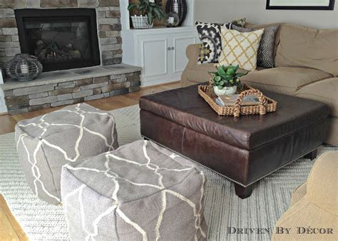 living room pouf house tour family room driven by decor