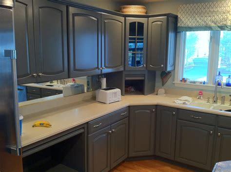 Spray Painting Kitchen Cabinets by Refinishing Kitchen Cabinets Grey Quicua Com