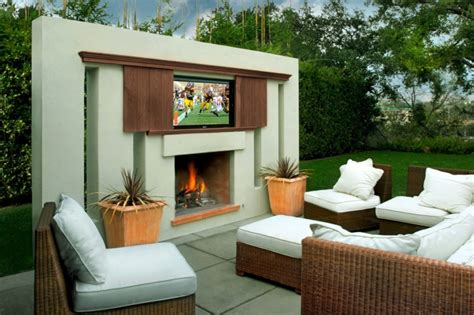 decorar muebles jardin exterior ideas para decorar el jard 237 n con chimenea al aire libre