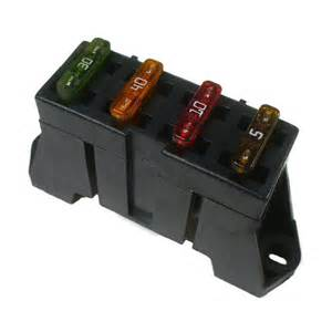 ato atc 4 way fuse block panel holder with terminals 12v car truck 4 ebay
