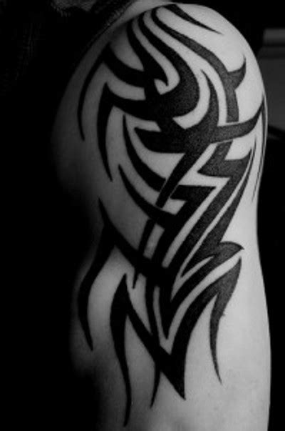 tribal upper arm tattoo in gallery tribal shoulder and arm tattoos