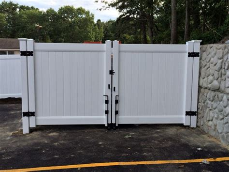 Installing A Sliding Barn Door White Solid Privacy Vinyl Dumpster Enclosure And 12 Wide