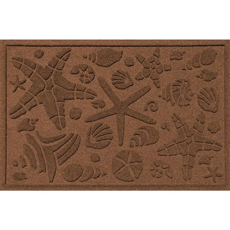 fireside patio mats neutral leather brown 6 ft x 9 ft