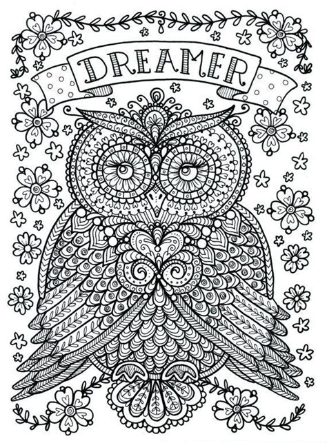 owl mandala coloring pages for adults free coloring page 171 coloring owl dreamer