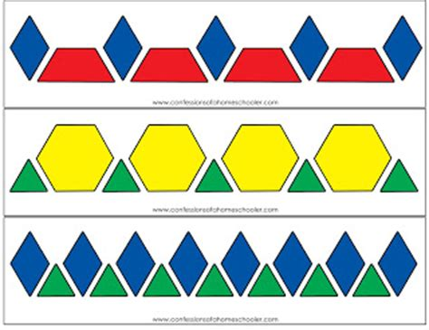 pattern blocks worksheet new calendar template site