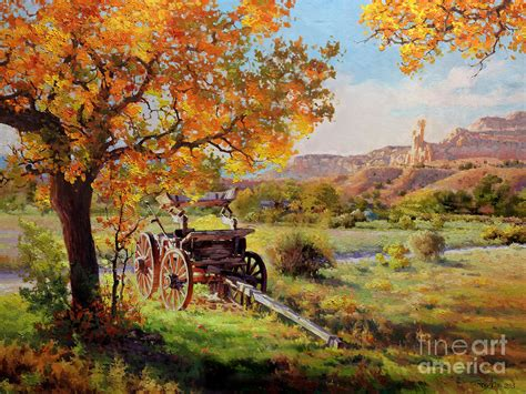 Home Plans Florida ghost ranch old wagon painting by gary kim