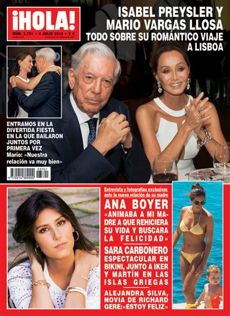 imagenes de hoy revista hola en 161 hola isabel preysler y mario vargas llosa bailaron