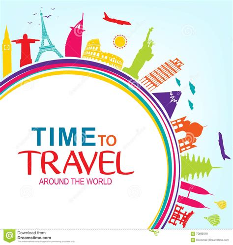 Around The World For Free colorful time to travel around the world with space for