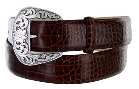 western buckle italian embossed calfskin leather belt 1 1