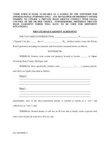 private road easement agreement michigan free download