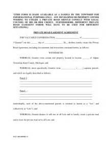 Easement Agreement Template easement