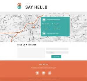 website contact page design flat design