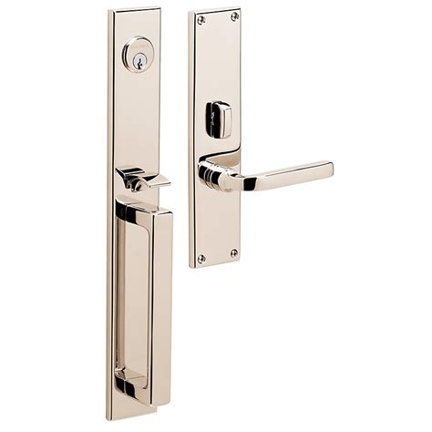 Mortise Door Hardware by Baldwin Estate 6976 Minneapolis Mortise Handleset Low