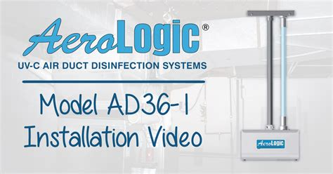 aerologic uv  air duct disinfection system installation