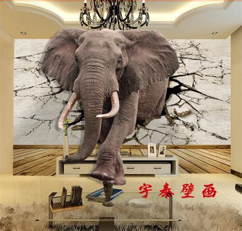 custom 3d elephant wall mural personalized giant photo compare prices on elephants wallpaper online shopping buy