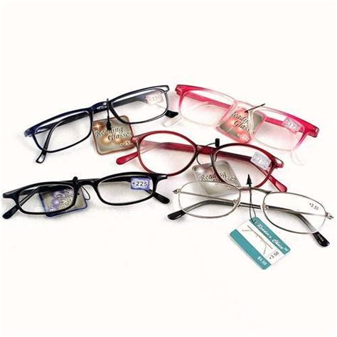 dollar store reading glasses just as as some rx