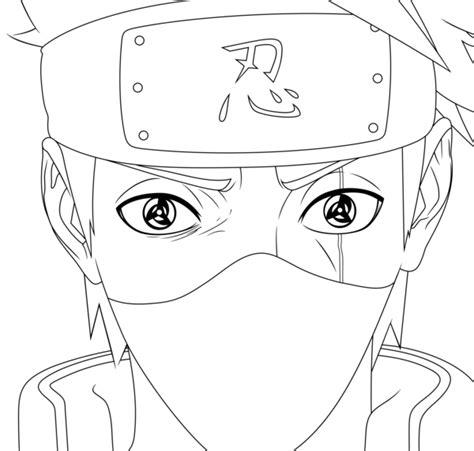 naruto coloring pages kakashi kakashi sharingan lineart naruto chapter 688 by mike rmb
